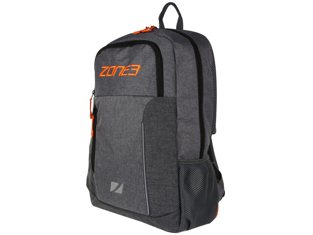 Zone3 Workout Backpack with Tri Focusesd Compartments marl grey/orange